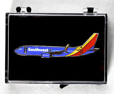 "SOUTHWEST AIRLINES Boeing 737-800 Airplane Lapel Pin 2"" Double Backed >NEW<"