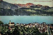 Gersau Schweiz Schwyz AK 1912 Vierwaldstättersee See Schwalmis Kirche Panorama