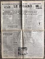 N130 La Une Du Journal Le Figaro 22 Septembre 1949