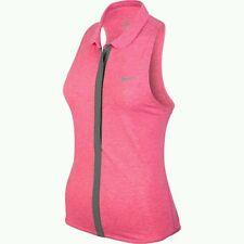Nike Women's Dri-FIT Touch Sleeveless #598267-604 Legion Red/Heather/Matte Silve