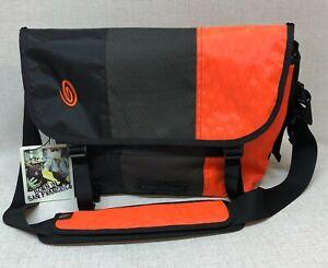 Timbuk2 Wild One Custom Print Rare Neon Orange Black Checks Messenger Bag NWT