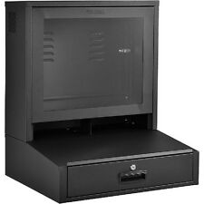 NEW! LCD Counter Top Security Computer Cabinet - Black!!