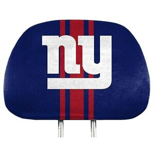 New York Giants NFL Printed Head Rest Covers