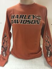 "Harley-Davidson Men's Texas Orange ""dusty kinship"" Medium long sleeve shirt"