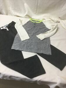 Boys Crew Cut Henley Top And Old Navy Gray Knit Pants Size 6/7