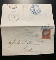 1841 1d Red on 1850 Partial Cover / Blue Dudley Postmark / SG CV  $1100.
