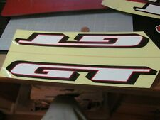 VINTAGE GT WHITE MTB BMX FRAME STICKER DECAL ORIGINAL RARE OLD STOCK LARGE