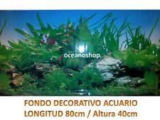 FONDO DECORATIVO ACUARIO longitud 80cm altura 40cm terrario pecera plantado D469