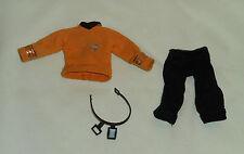 """vintage Mego Star Trek original SHIRT PANTS BELT COMMUNICATOR from 8"""" CAPT. KIRK"""