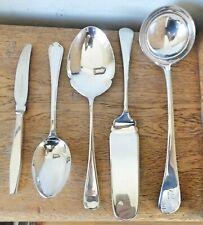 VINTAGE Walker & Hall SHEFFIELD SILVER PLATED SERVING Ladle Slice Spoons Knife