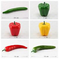 Vivid Decorative Plastic Artificial Fake Vegetables Decor Cucumber Pepper