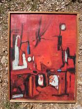 Composition abstraite. Huile Sur Toile, années 1950