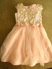 Cherokee Ballerina chic Holyday/party pink dress Size 7/8 medium with sequins
