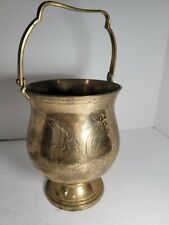 Home decor brass container vintage. Look for tongs in my other listings