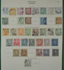 FUNCHAL PORTUGAL STAMPS SELECTION  ON ALBUM PAGE (K107)