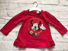 Baby Girls Clothes 12-18 Months-Cute Disney Minnie T Shirt Top