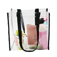 New Transparent Handbag Tote PVC Makeup Cosmetic Bag Wash Shower Shopping Bags