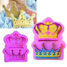 Crown Tiara Princess Cake Topper Fondant Sugarcraft Silicone Mould BT3