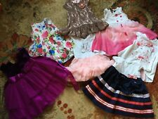 Lot of 7 Toddler Girl Dresses Size 2T Short Sleeves Dressy