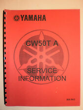YAMAHA CW50 T  JOG 1987 SERVICE INFORMATION MANUAL