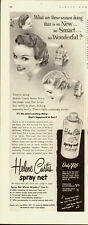 1952 Vintage ad for Helene Curtis spray net /50's Hair Styles/Pin Curls (071413)