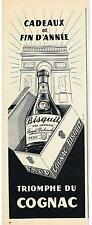 PUBLICITE ADVERTISING  1959  BISQUIT  cognac
