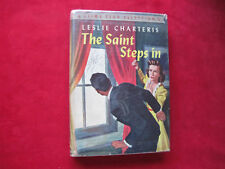 Leslie Charteris The Saint Steps In 1ST AM IN DJ 1943