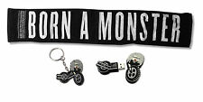 LADY GAGA - 3 PIECE SET MONSTER TOWEL / MOTORCYCLE USB DRIVE / KEYCHAIN NEW