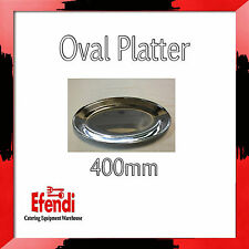 Oval Platter / Serving Platter 400mm Stainless Steel Parties/Functions/Occasions