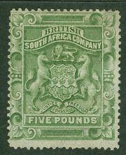 Rhodesia SG 12 £ 5 Verde Salvia. Menta Fresca montado Gato £ 1600