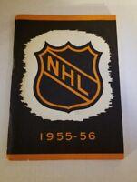 NHL press And Radio Guide 1955-56