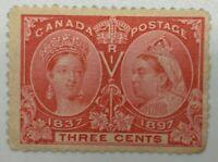 Canada #53 Three Cent Diamond Jubilee 1897 MNH Gum Loss  ST63