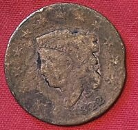 1822 US Liberty Head Large Cent Penny Coin Early American Antique Copper