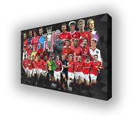 Manchester United - Premier League Heroes Wall Canvas Print Picture Art 63x40cm