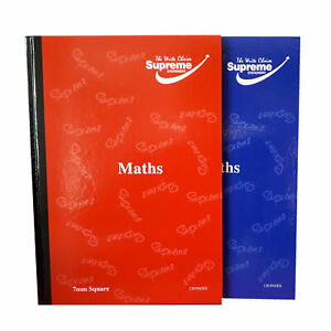 A4 Maths Book Hardback  5mm OR 7mm Squares Exercise Book 120 Pages - 60 Sheets