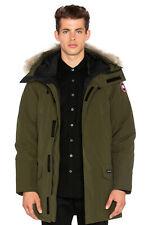 Canada Goose Military Green Langford Men's Down Parka Coat Coyote Fur Size Large