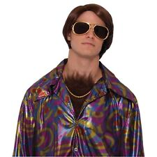 Adult Mens 70s Disco Dude Retro Stick Chest Hair Stag Do Fancy Dress Accessory