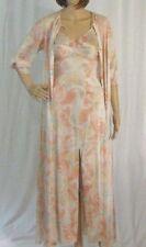 Vintage 1970s Vanity Fair Peignoir Night Gown Set Spagetti Straps Ocean Swirls