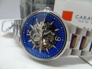 CARAVELLE by BULOVA MENS AUTOMATIC **NEW** SKELETON FRONT/REAR  RRP £179.99