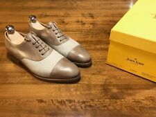John Lobb City III 6E - Pale Gray Museum Calf / White Linen