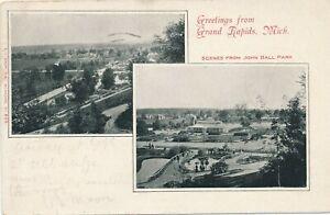 GRAND RAPIDS MI – John Ball Park Two Scenes – udb – 1906