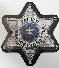 THE POLICE Message In A Bottle - RARE US Badge Shaped Picture Disc (1980)