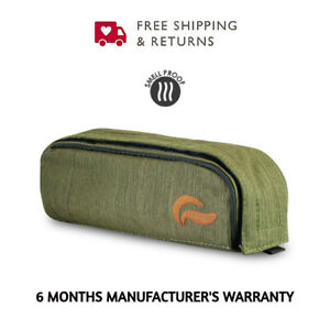 """Skunk Travel Pack Smell Proof Weather Resistant Compact Pro Stash Case Green 9"""""""