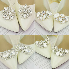 Vintage Style Rhinestones Crystal Wedding Bridal Party Shoe Clips Pair
