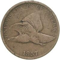 1857 Flying Eagle Cent Very Good Penny VG