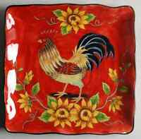 Maxcera Corp KING ROOSTER Square Dinner Plate 8634601