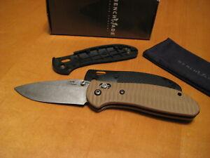 Benchmade Knife 552-400 Doug Ritter Stonewashed S30V Griptilian Axis w Tan G10 !