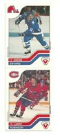 LARRY ROBINSON MONTREAL CANADIENS A. SAVARD QUEBEC NORDIQUES VACHON HOCKEY CARD