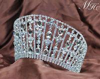 Royal Large Tiaras Crown Rhinestone Crystal Headpiece Wedding Pageant Prom Party