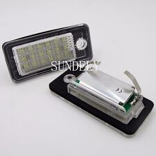 CAN-bus White Error Free LED License Plate Light Lamp For Audi Q7 2007 2008 2009